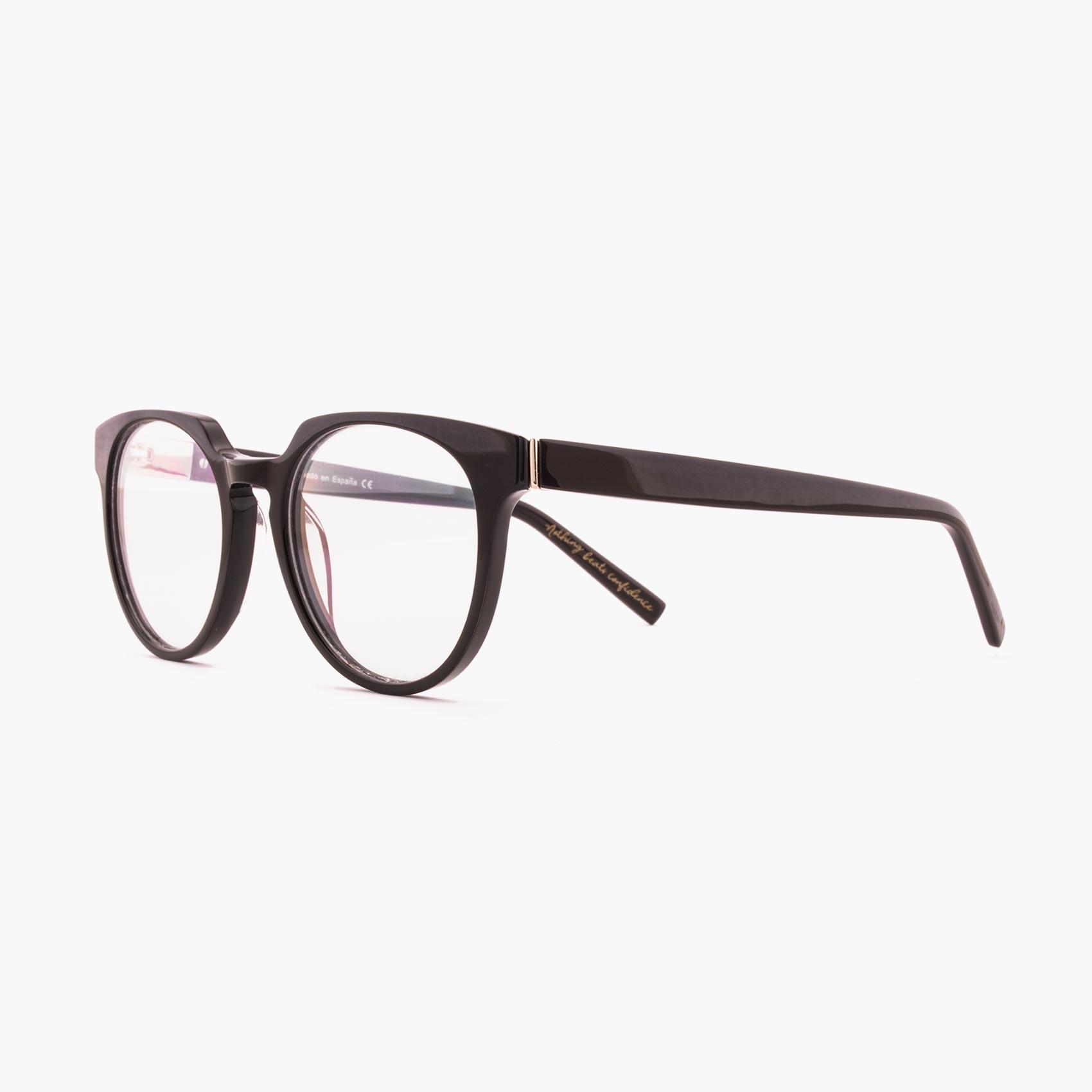 Proud eyewear Benigni C2 L montura con puente de cerradura marrón oscuro