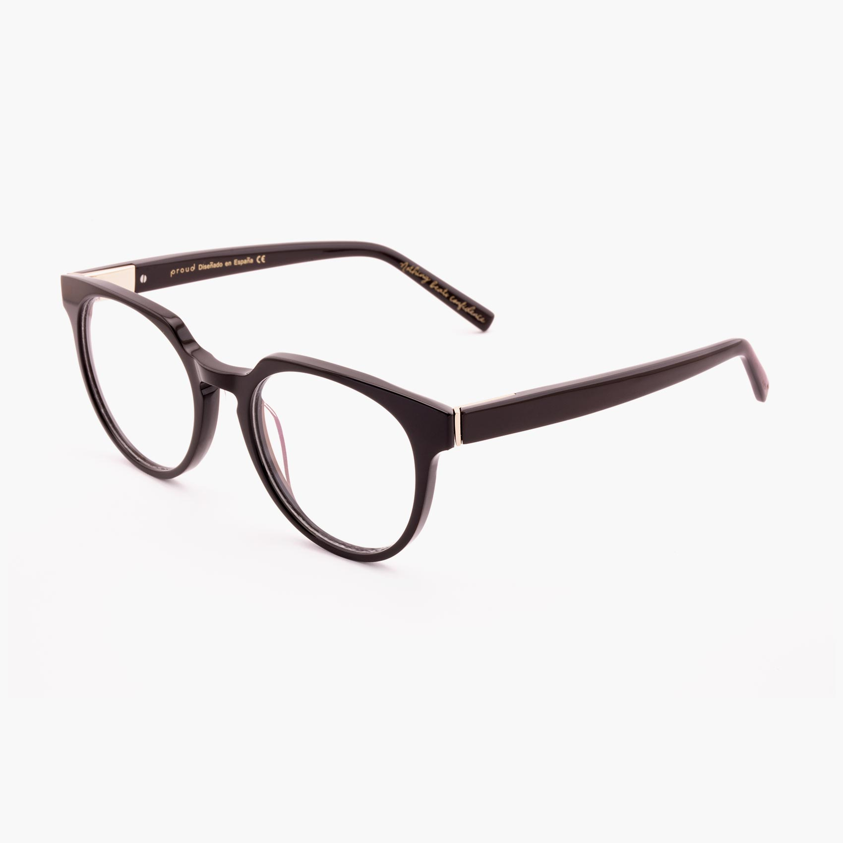 Proud eyewear Benigni C2 P tendencia gafas graduadas marrón oscuro
