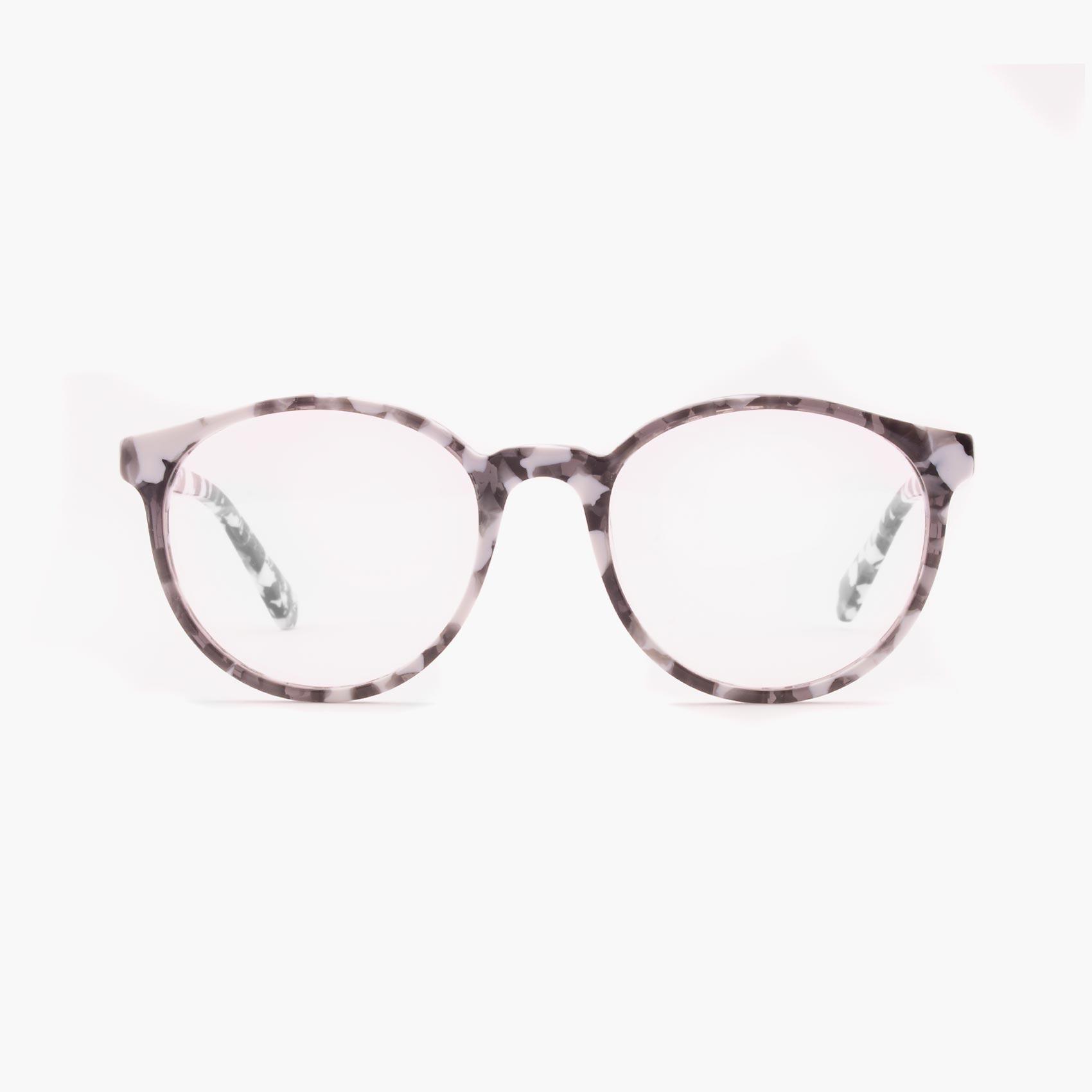 Gafas de acetato moteadas en blanco y negro modelo Crowe de Proud eyewear