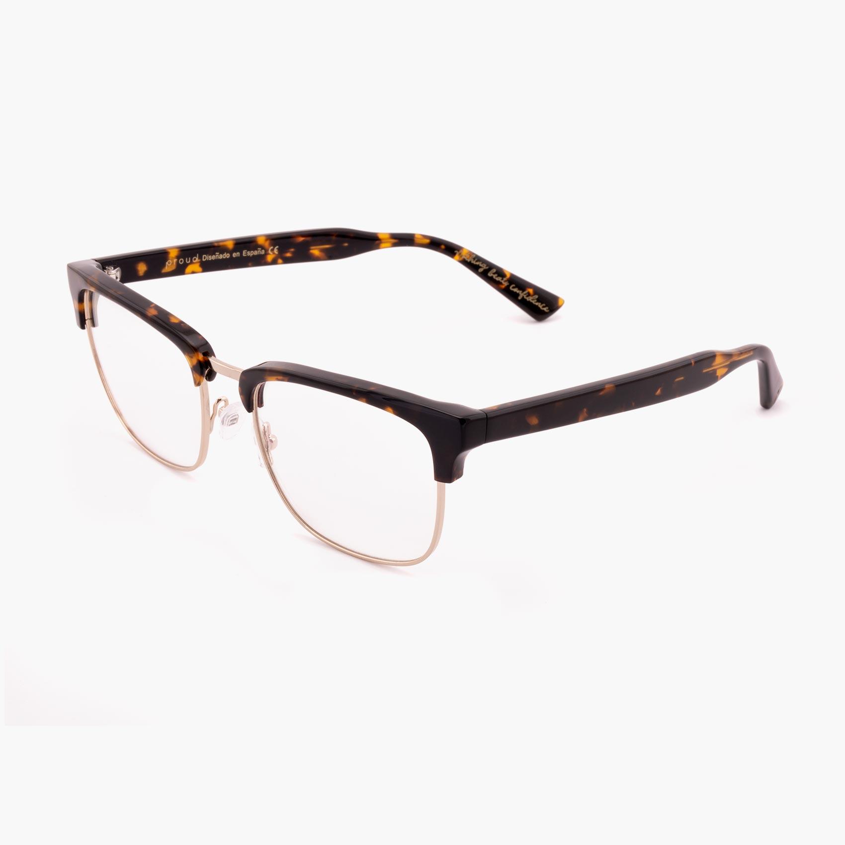 Proud eyewear Hopkins C1 P clubmaster glasses havana