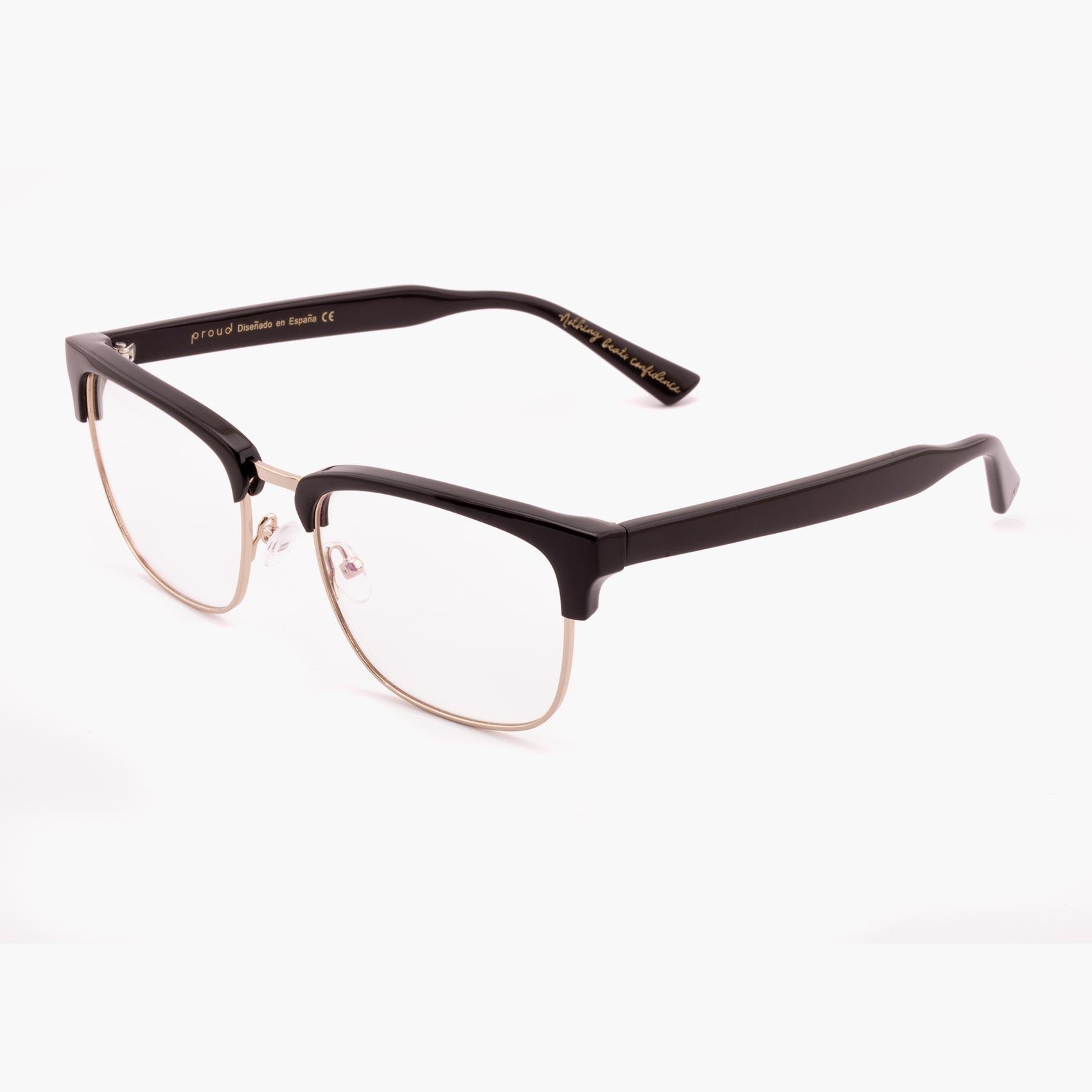 Proud eyewear Hopkins C2 P clubmaster glasses black