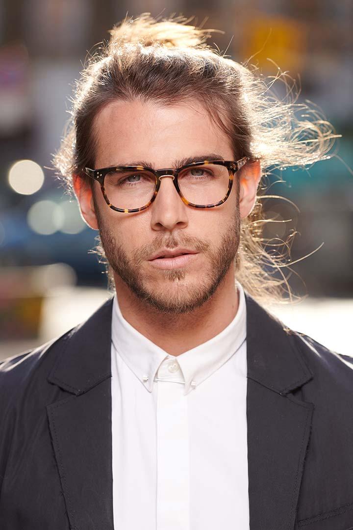 Gafas con puente de herradura color havana