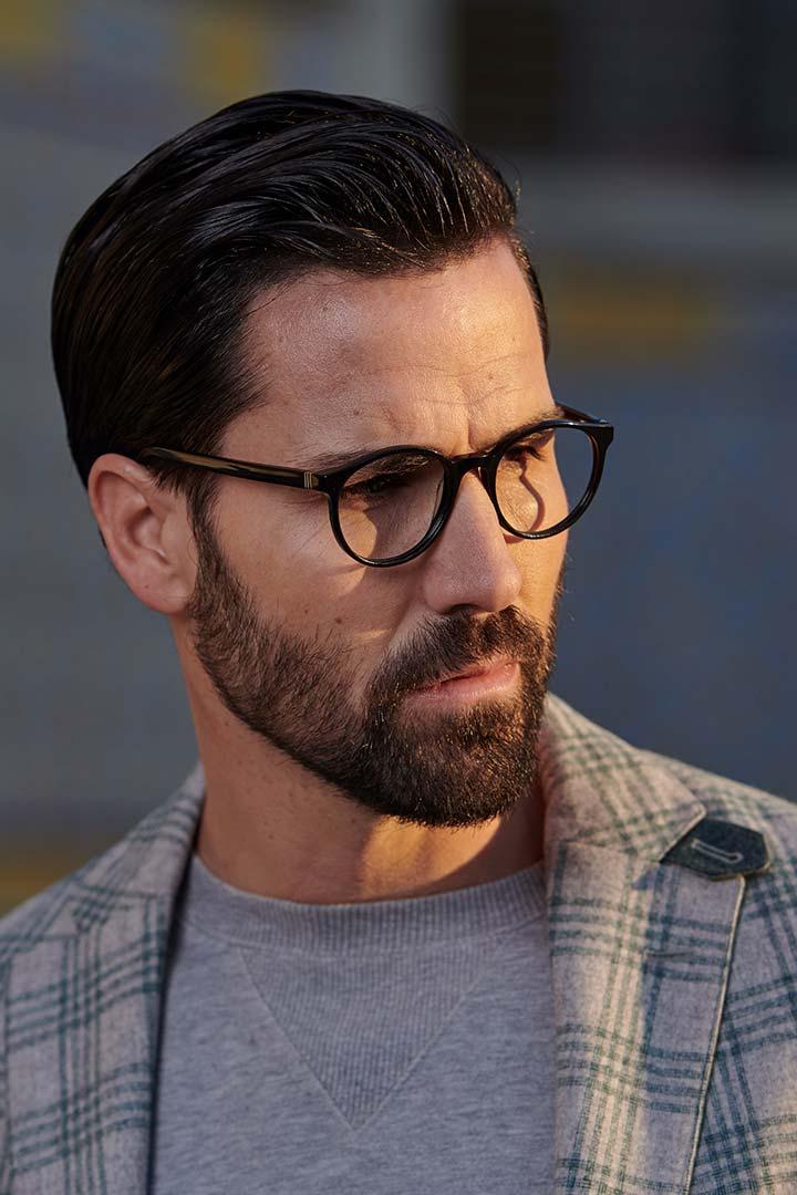 Modelo de gafas discretas para hombre Crowe color negro