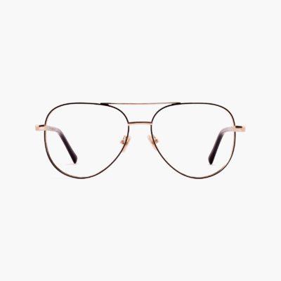 Proud eyewear Woolf black / gold aviator glasses