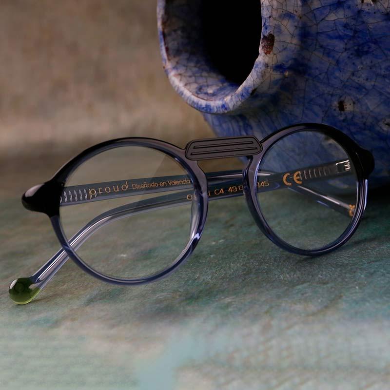 Oxford black de Proud: gafas de acetato compostable de colores