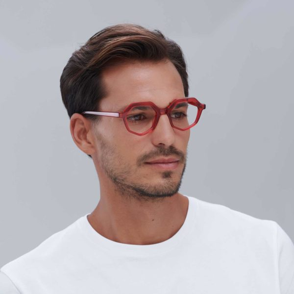 Red ecological sunglasses