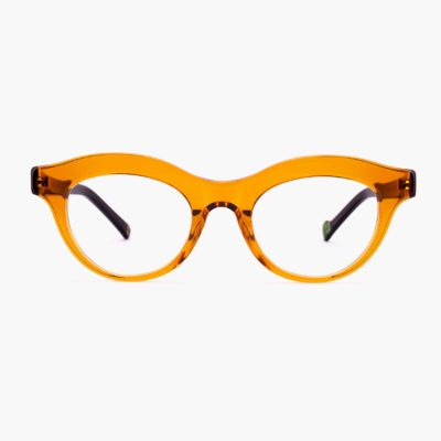 Elegant frame glasses for women Transparent Marsella caramel color by Proud eyewear
