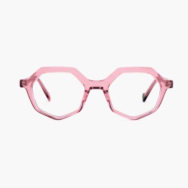 Montura de acetato compostable color rosa modelo Roma de Proud eyewear