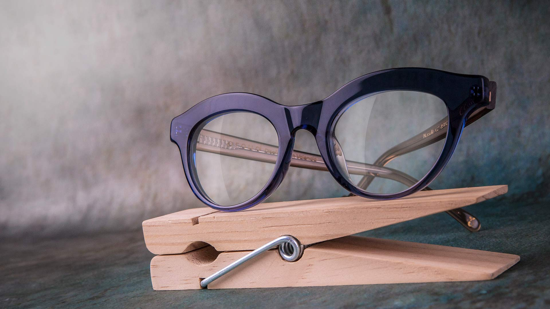 Gafas de acetato compostabe azul Proud Eyewear