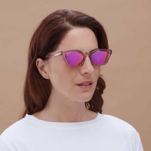 Ecological sunglasses Ibiza Sun pink