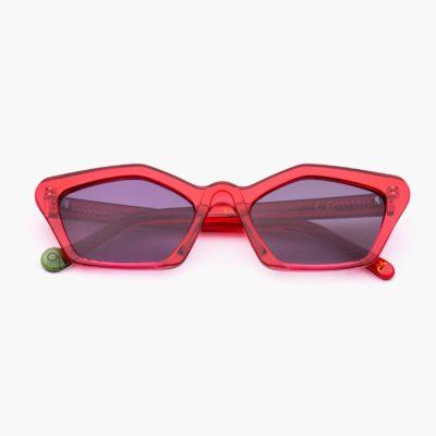 gafa de sol cat eye con montura compostable modelo Ibiza en rojo Proud Eyewer