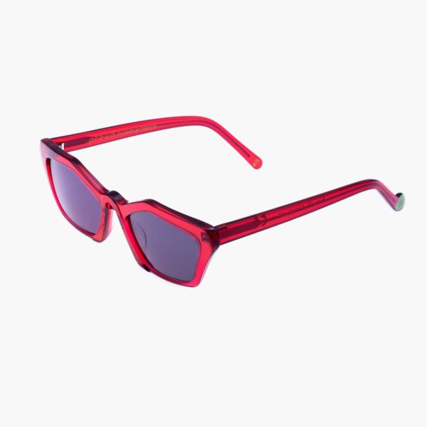 Ibiza red compostable frame sunglasses