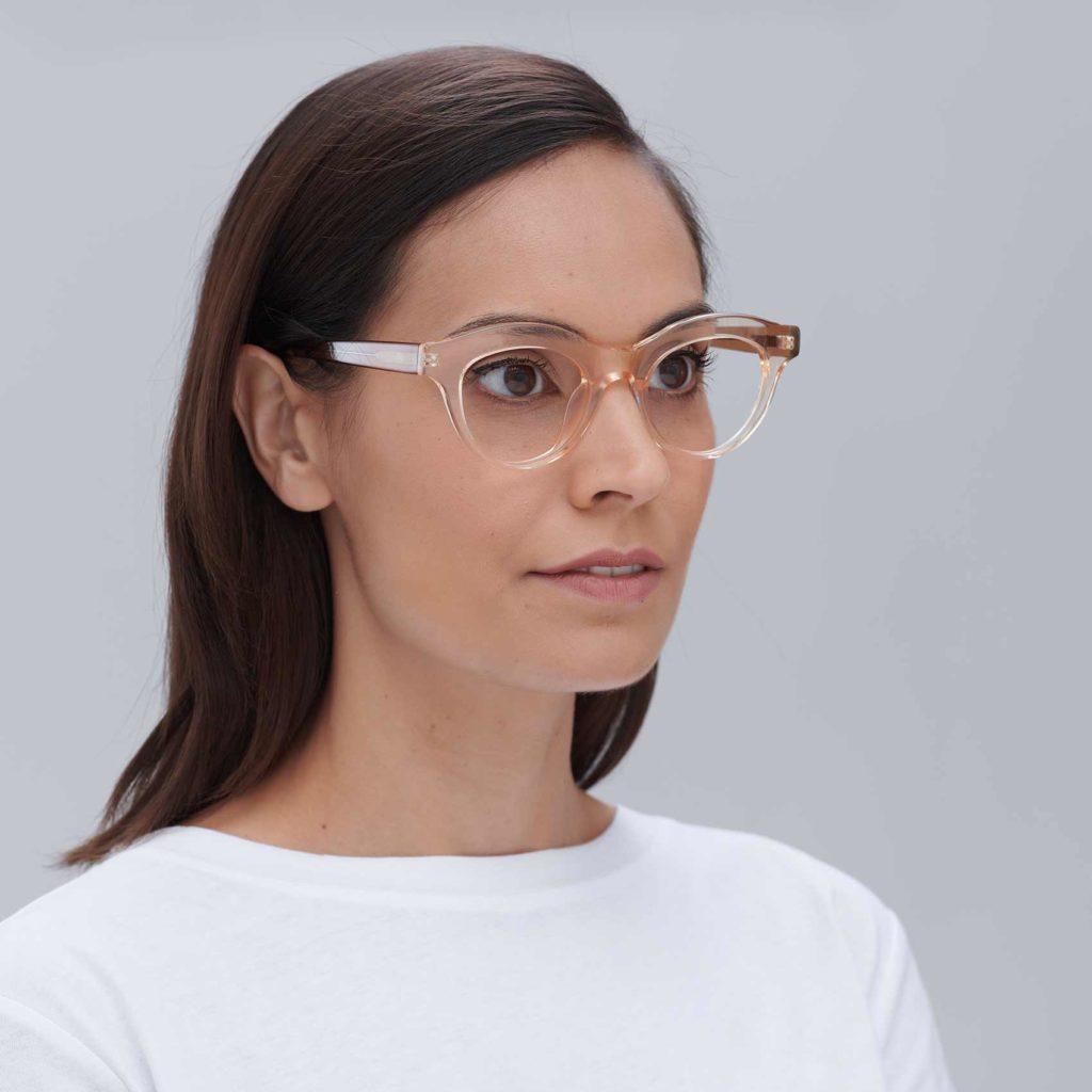 Gafas con montura elegante para mujer Transparentes