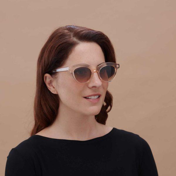 Montura de sol para mujer Marsella transparente