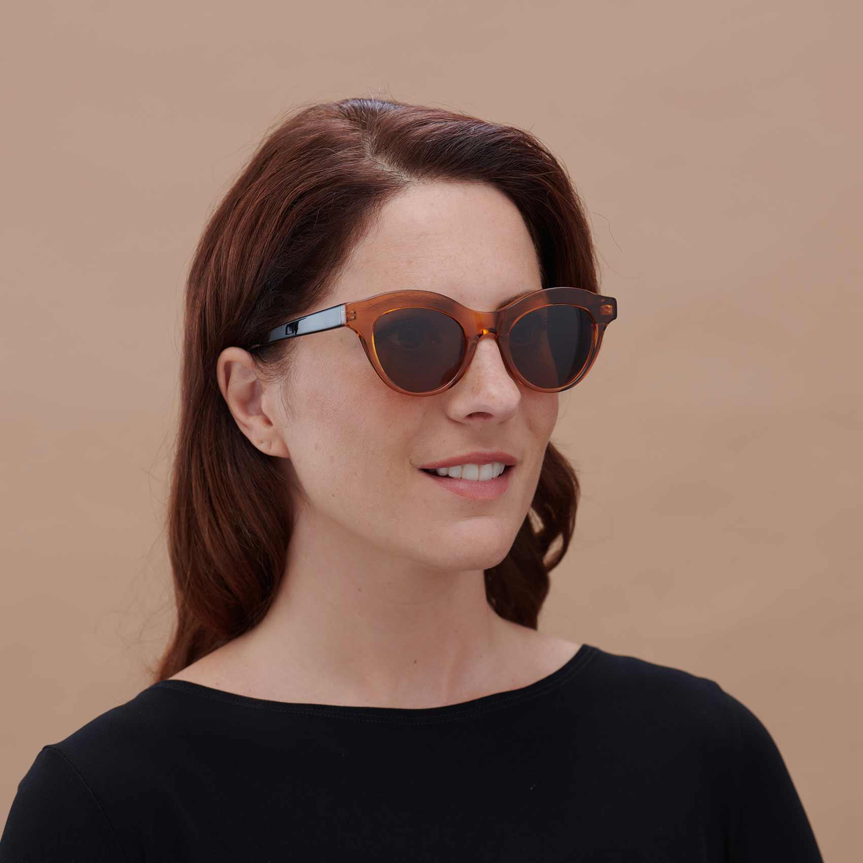 Montura de sol para mujer Marsella en color caramelo