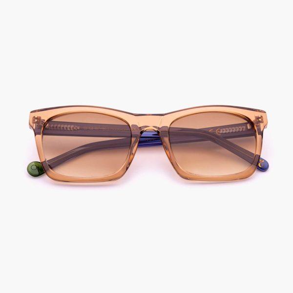 Gafas de sol de moda sostenible color marrón / azul Oporto Proud eyewear