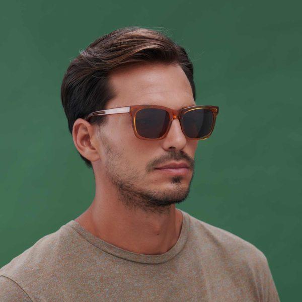 Gafas de sol compostables modelo Oporto en color caramelo - Proud eyewear