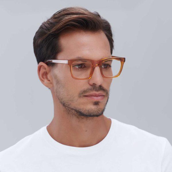 Gafas graduadas moda sostenible color caramelo