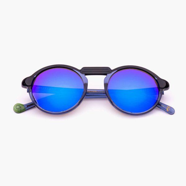 Gafas de sol acetato compostable en azul y negro modelo Oxford mini - Proud eyewear