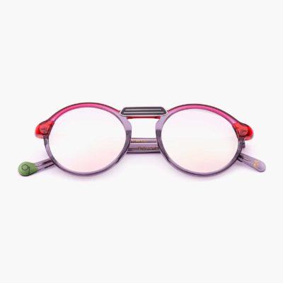 Gafas de sol ligeras y sostenibles en gris y rojo modelo Oxford mini - Proud eyewear
