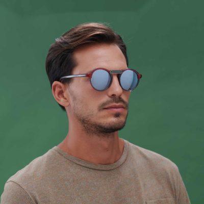 Gafas de sol ligeras modelo Oxford color mini rojo y gris