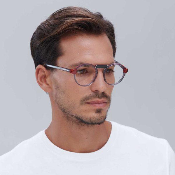 Gafas para graduar de montura moderna ligera gris
