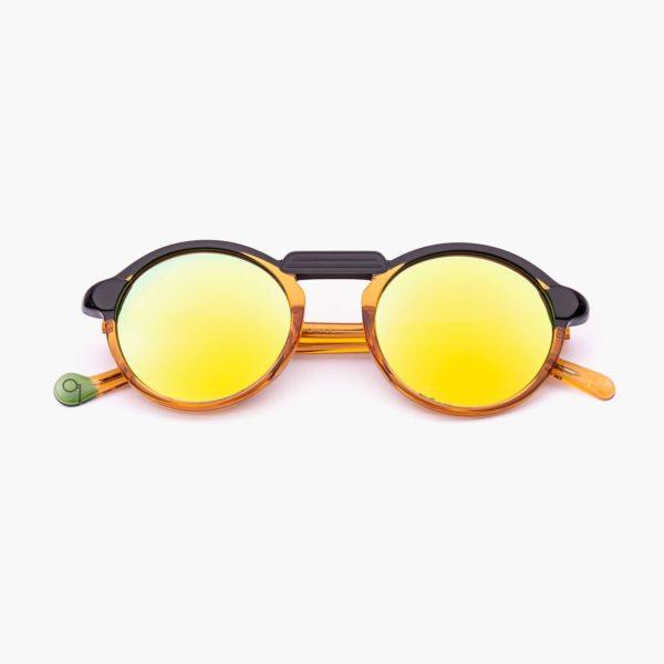 Gafas de sol acetato compostable en naranja y negro modelo Oxford mini - Proud eyewear