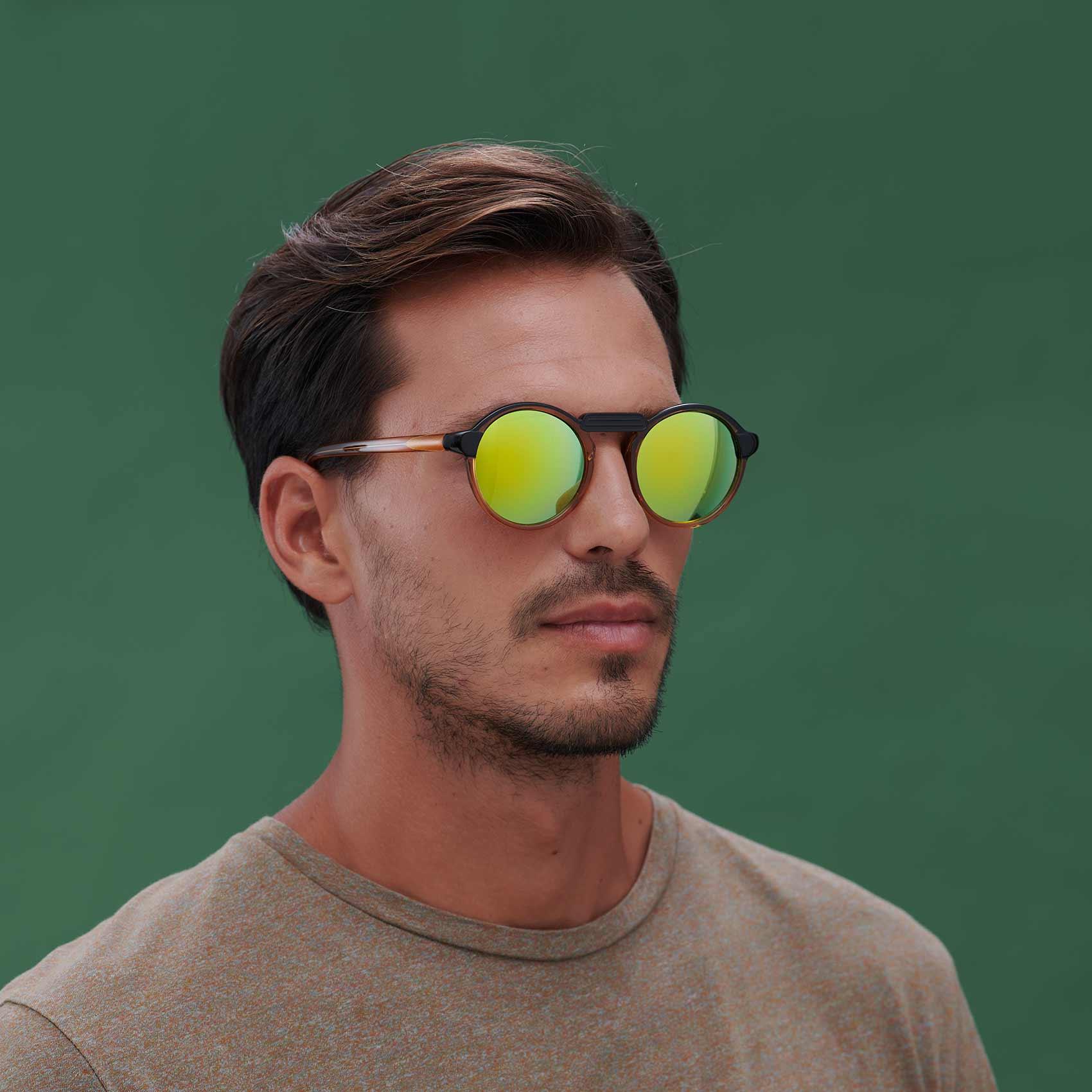 Gafas de sol de moda sostenible unisex