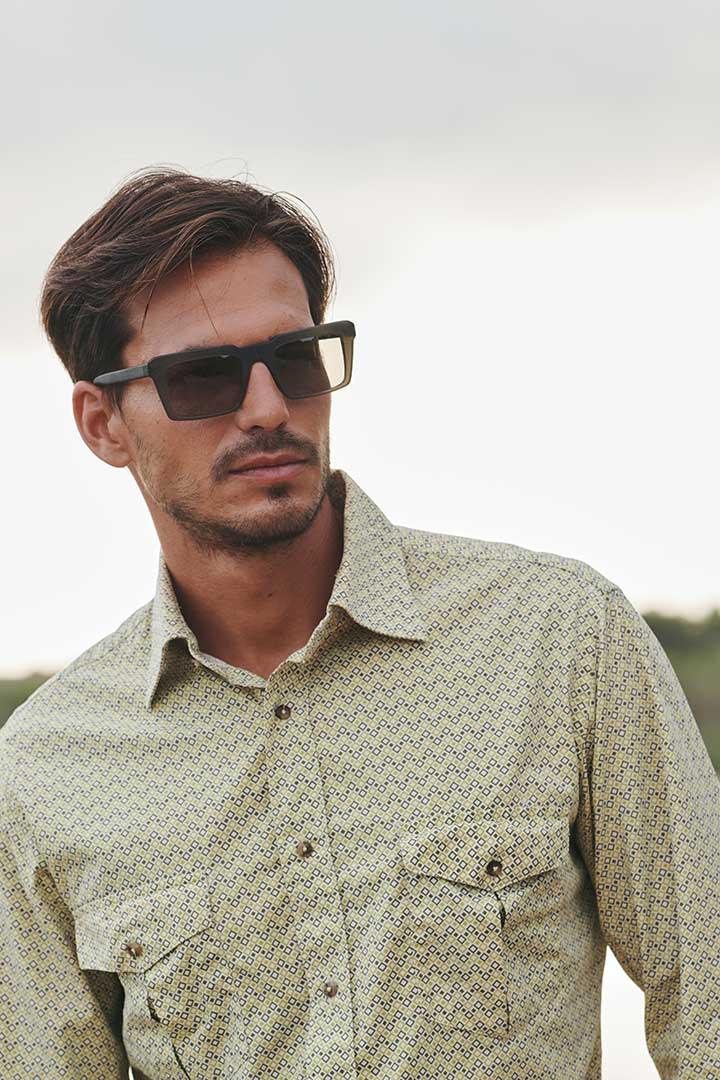 Tendencia en gafas de sol para hombre de diseño sostenible