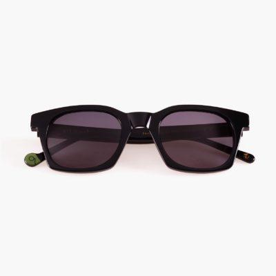 Gafas de sol ecológicas de moda sostenible Benimaclet Negro
