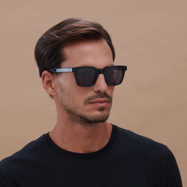 Sustainable fashion eco-friendly sunglasses in black