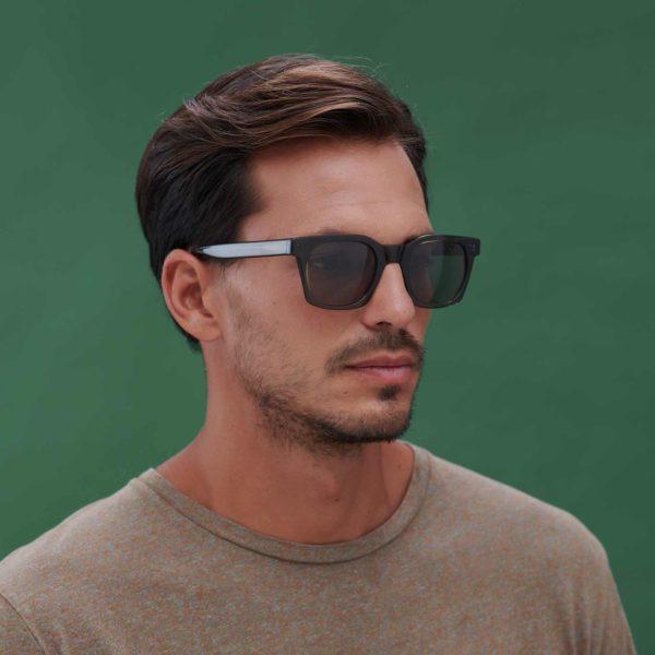 Green ecological sunglasses