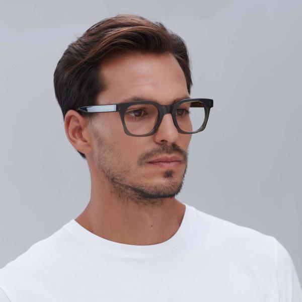Ecological designer glasses model Benimaclet color green by Proud eyewear