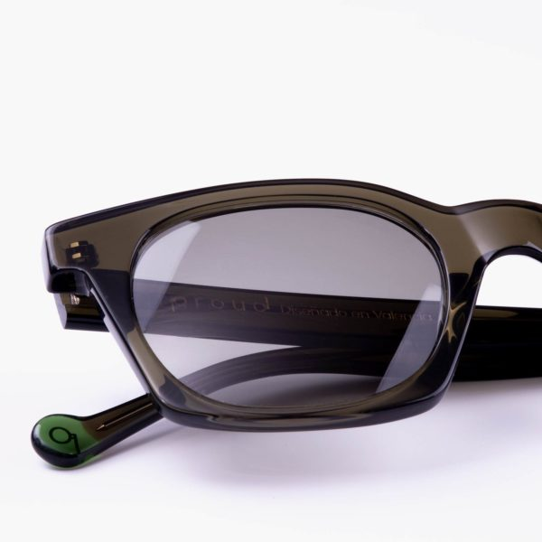 Sustainable ecological sunglasses detail