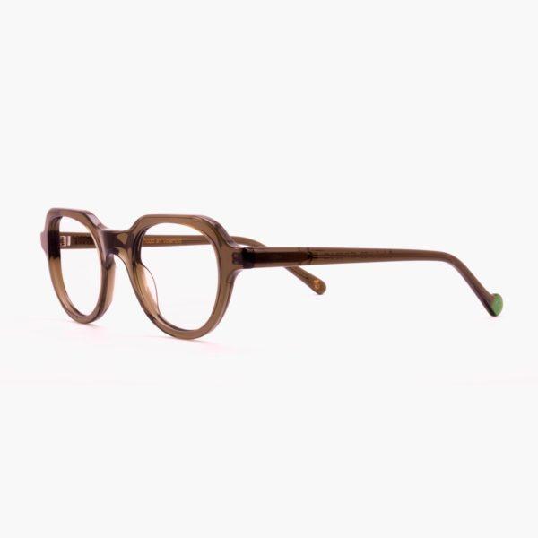 Gafas graduadas de moda sostenible compostables verde Cabañal de Proud eyewear