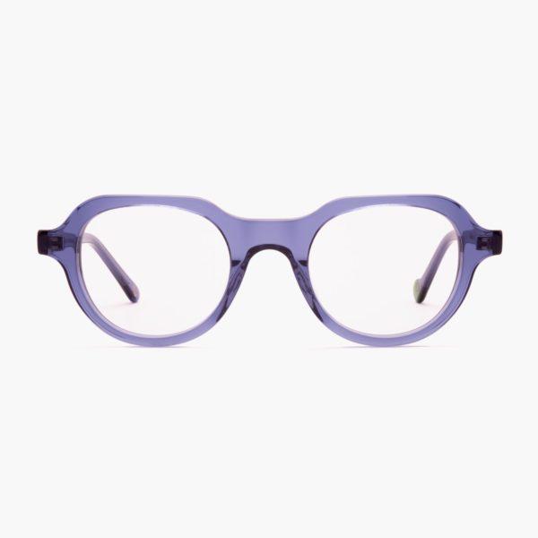 Gafas graduadas de moda sostenible compostables azul Cabañal de Proud eyewear