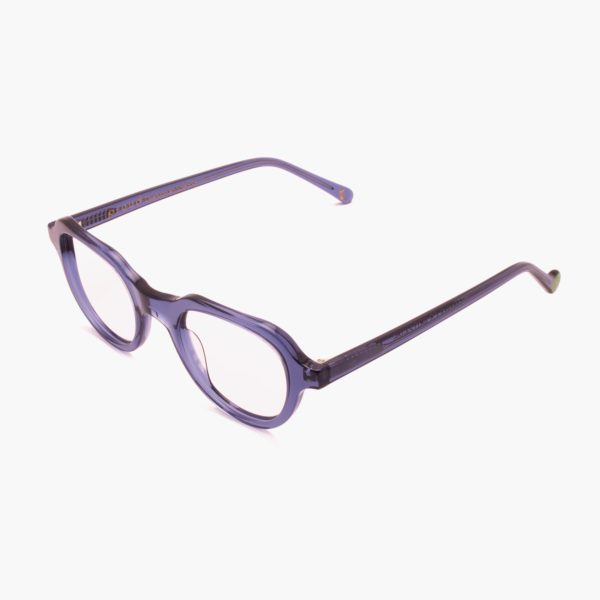 Gafas graduadas de moda sostenible compostables azul modelo Cabañal de Proud eyewear