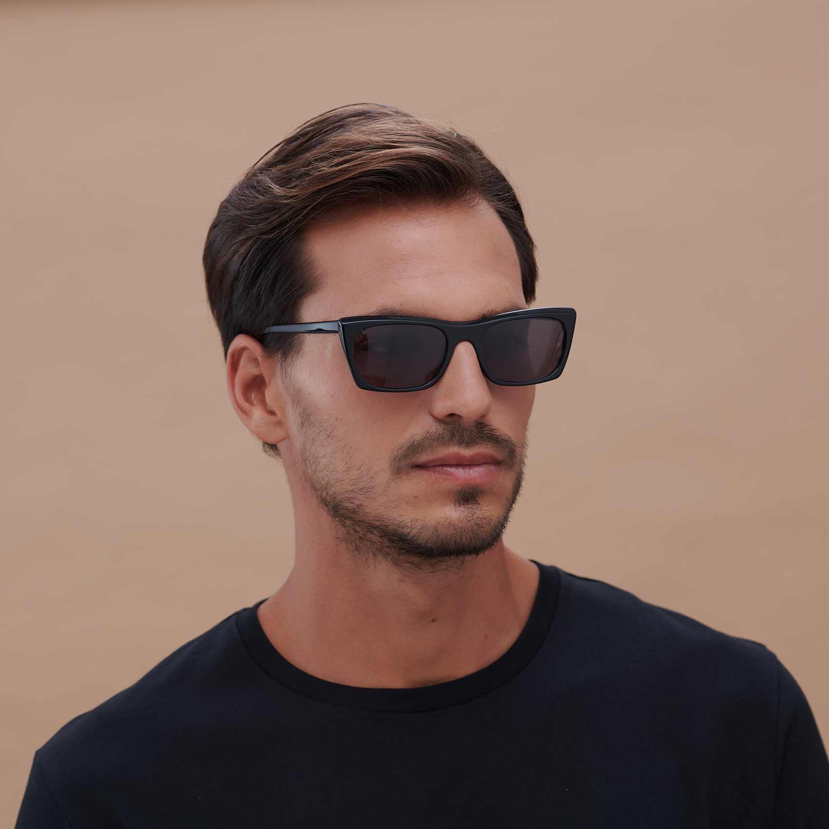 Proud Eyewear Black Malvarrosa Compostable Frame Sunglasses