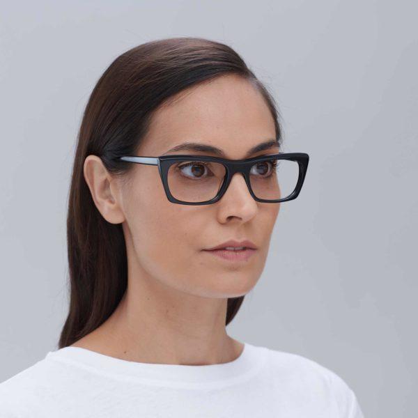 Malvarrosa black ecological prescription glasses