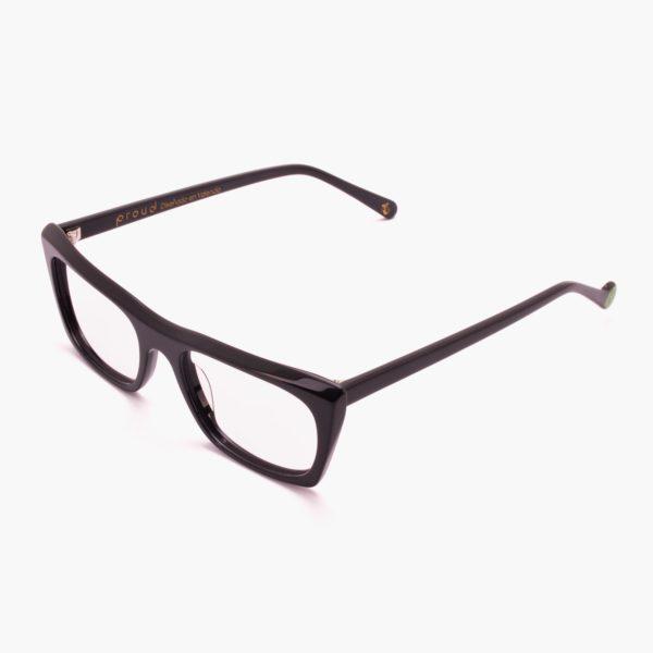Malvarrosa black sustainable frame glasses
