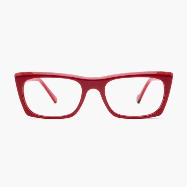 Sustainable design glasses Malvarrosa red