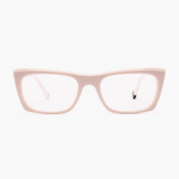White Malvarrosa compostable frame glasses