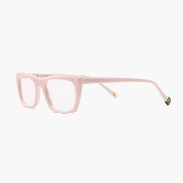 Malvarrosa by Proud Eyewear white circular economy prescription glasses