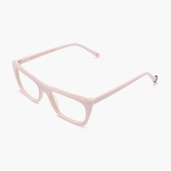 White acetate glasses and sustainable design Malvarrosa