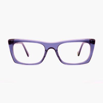Gafas ecológicas de montura compostable en azul Malvarrosa