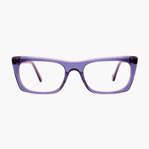 Ecological glasses with compostable frame in Malvarrosa blue