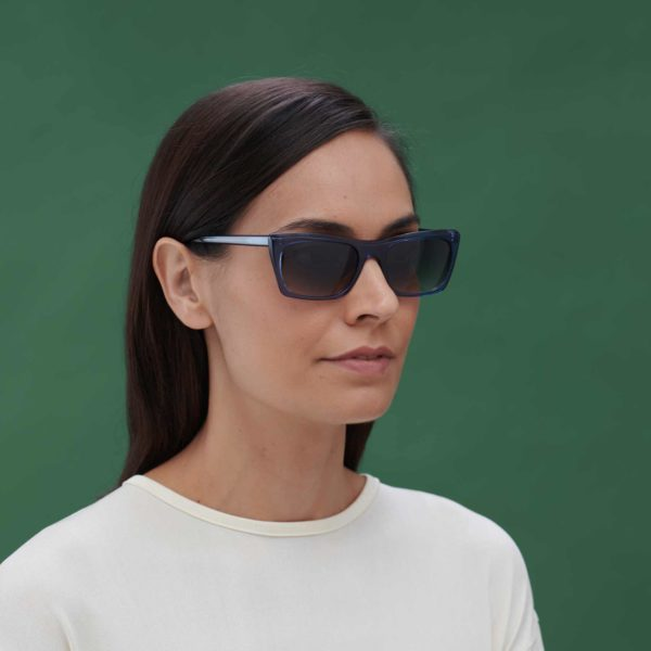 Malvarrosa C4 M ecological sunglasses with compostable frame in blue