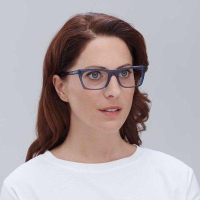 Gafas sugerentes para mujer modelo Malvarrosa azul