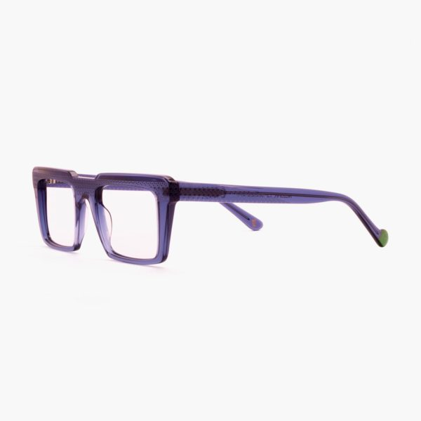 Retro glasses with compostable Nazaret blue frame