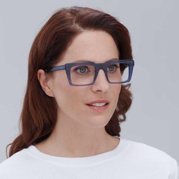Nazaret: retro glasses with blue ecological frame
